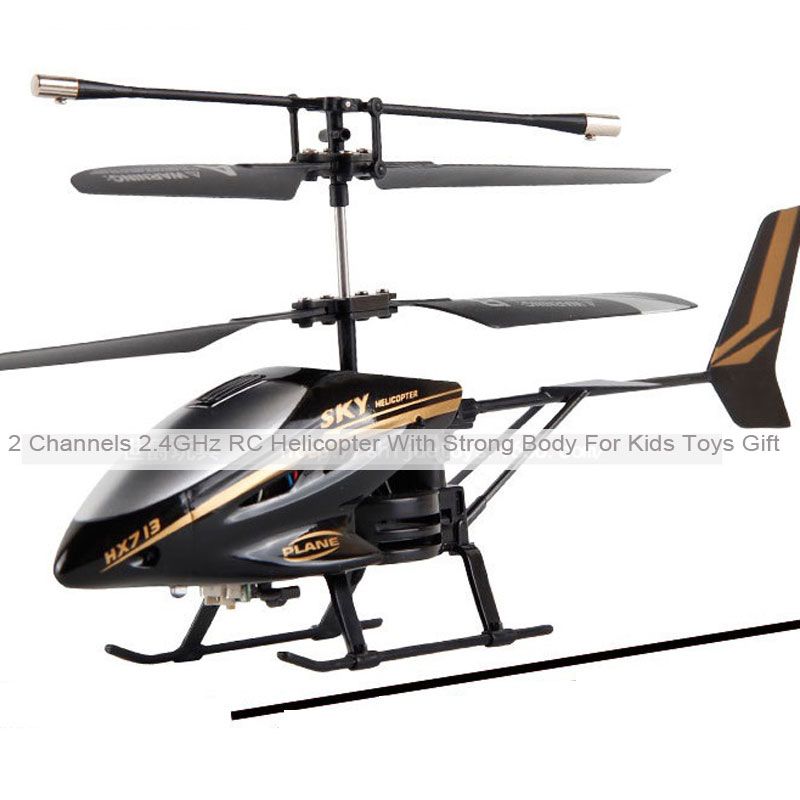 2 Channels 2.4GHz RC Helicopter With Strong Body For Kids Toys Gift