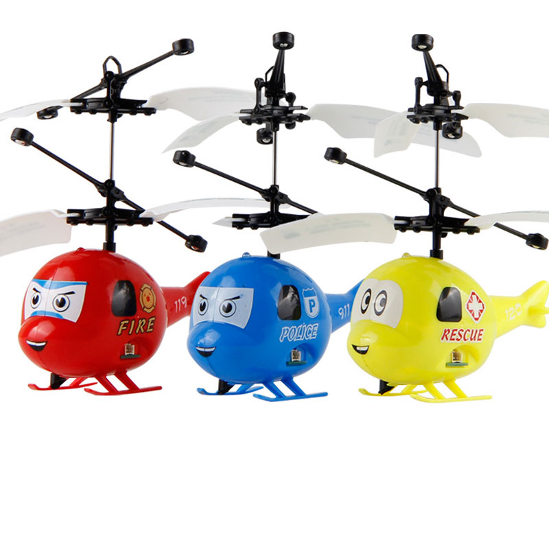 Mini Cartoon 2 Channels RC Helicopter With Flashing For Kids Toys Gift