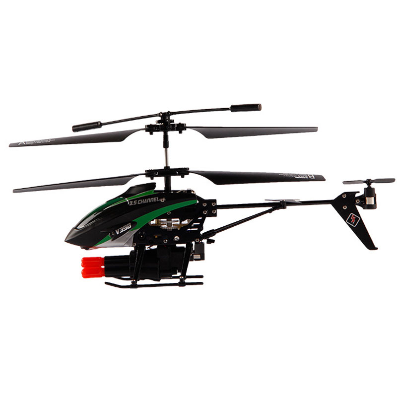 V398 RC Helicopter 3.5 Channels With Missile Launching LED Lighting Toy