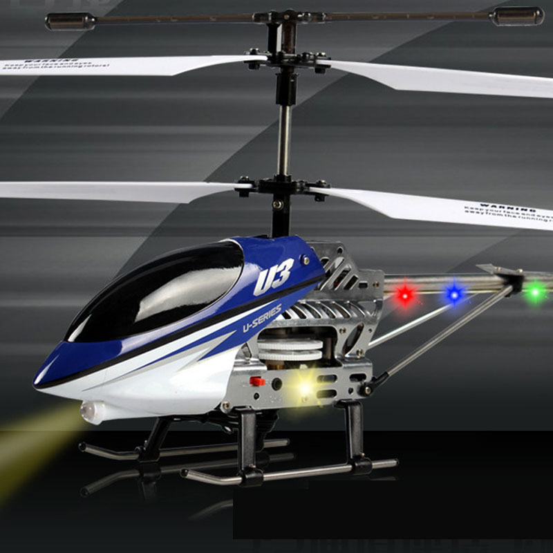 U3 RC Helicopter 2.4GHz 3.5 Channels With LED For Kids Toys Gift
