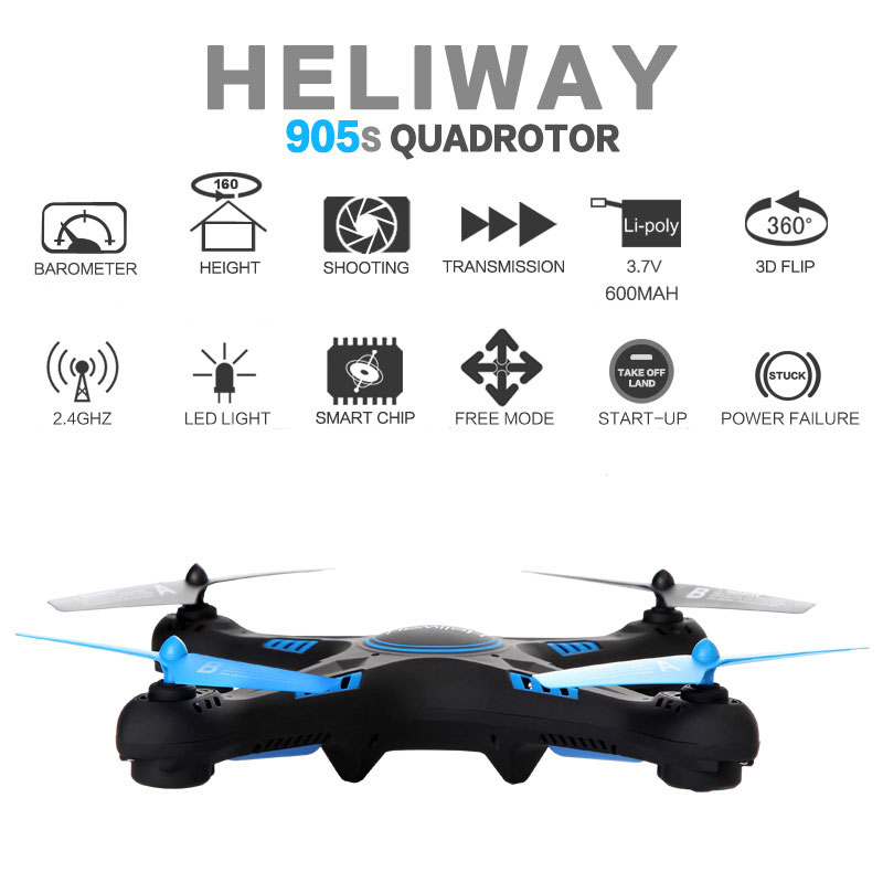 HengQi 905S RC Quadcopter With Wifi HD Camera Support Barometer Set Height