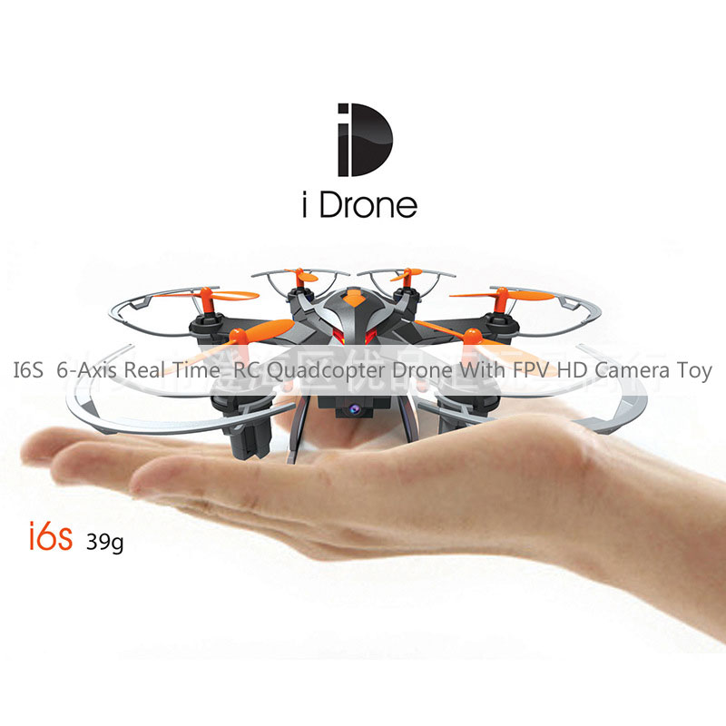 I6S 6-Axis Real Time RC Quadcopter Drone With FPV HD Camera Toy