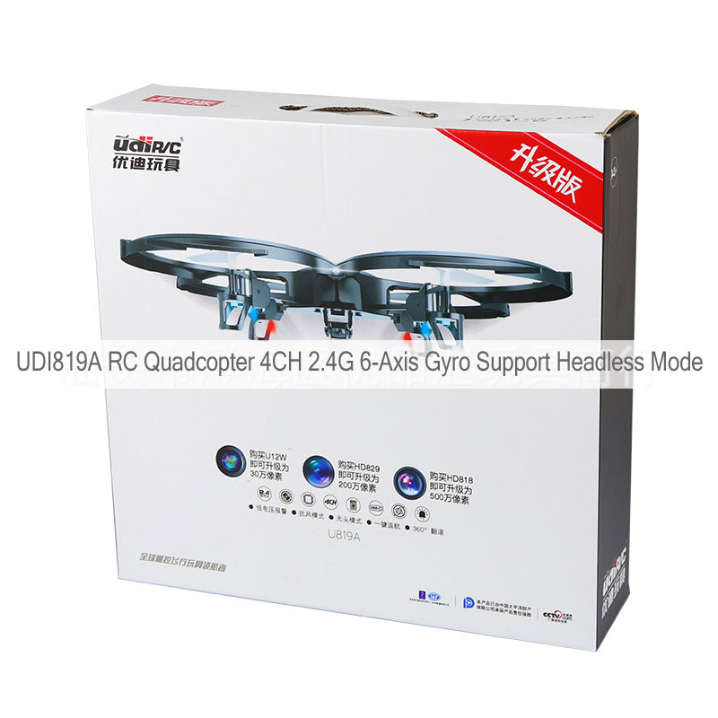 UDI819A RC Quadcopter 4CH 2.4G 6-Axis Gyro Support Headless Mode