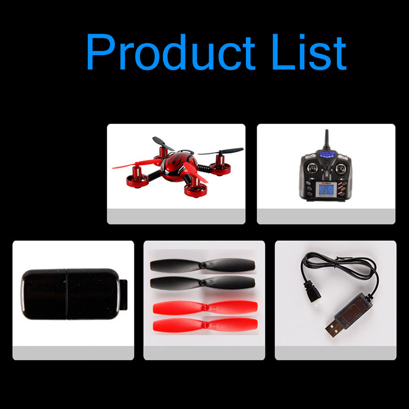JXD 392 2.4Ghz 4CH 6-Axis Gyro Remote Control Mini RC Quadcopter With Camera