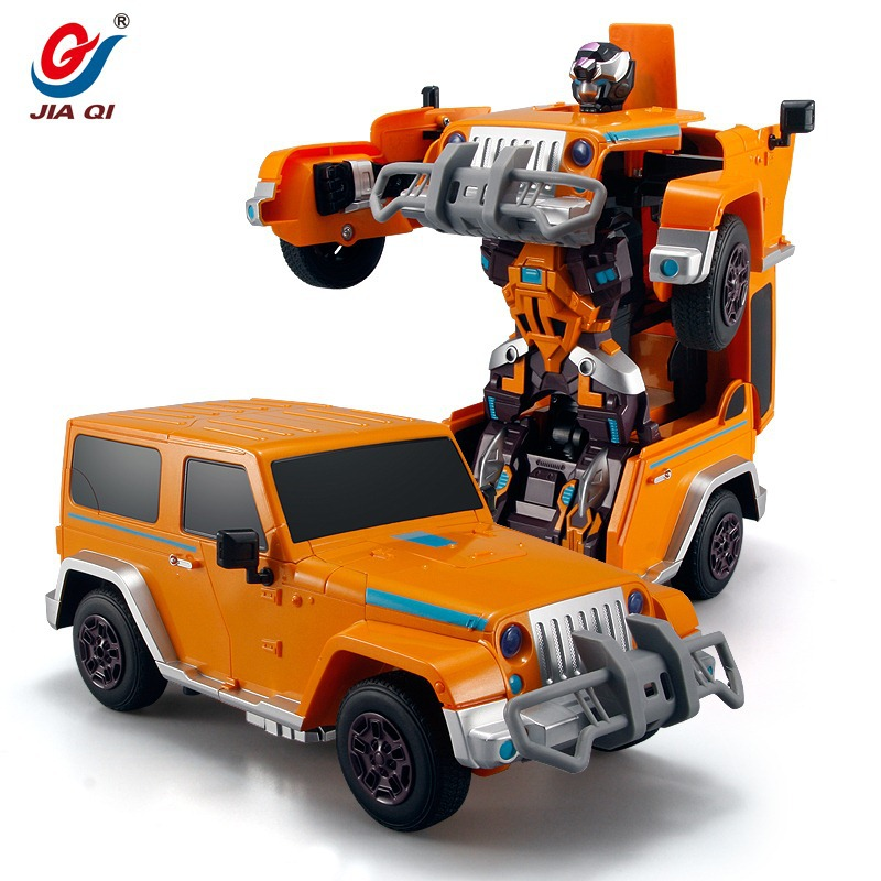 6605 Hot 2.4G Deformation Robot Special Design Cars Robots For Kids