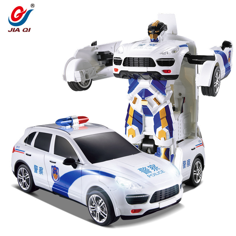 TT664J Police Transformation Remote Control RC Car Toys Gift For Kids