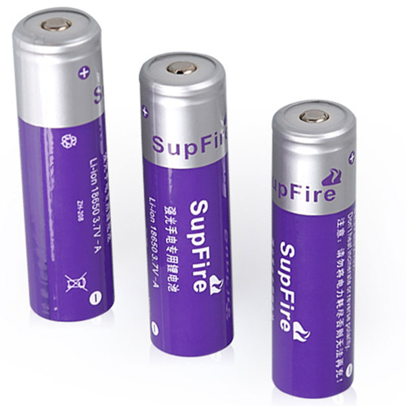 SupFire 18650 Lithium Battery Charge 3.7V Flashlight Batteries