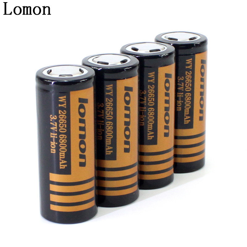 Lomon Lithium Battery 6800mAh Rechargeable Battery for Flashlight P26650