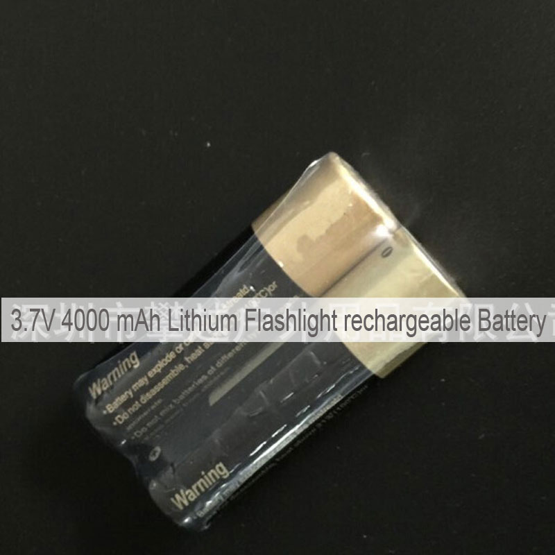3.7V 4000 mAh Lithium Flashlight rechargeable Battery
