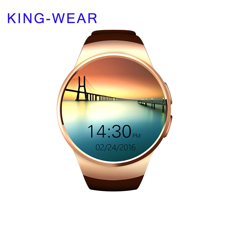KING-WEAR New Smart Watch With MTK2502C Support Both IOS and Android