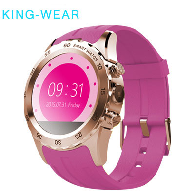 KING-WEAR Fashion Multi-Color Bluetooth 1.22 Inch Round Display Smart Wrist Watch Phone
