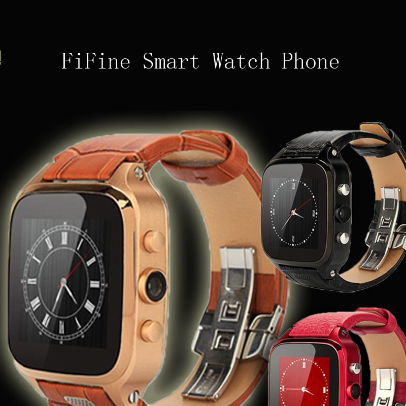 FiFine Bluetooth Smart Watch Phone Support SIM Card Wifi Waterproof For IOS Android