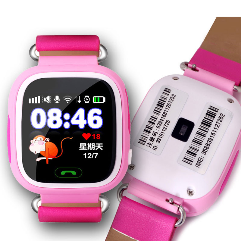 2016 New Children Smart Watch Phone With Heart Rate Monitor GPS   Locator Tracker For IOS Android