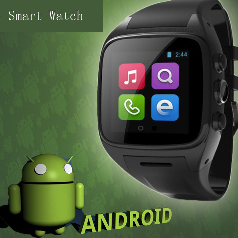 Dual Core Smart Watch Phone Support SIM Card Wifi For Android