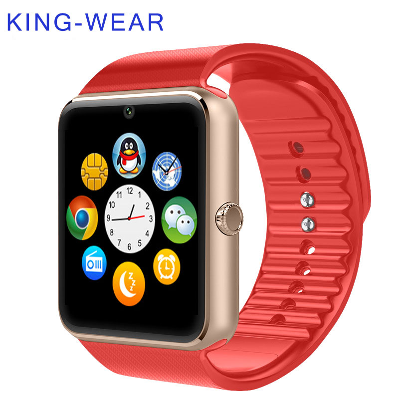 KING-WEAR Bluetooth Phone Camera Android Health SIM Card Sport Clock Android Smartwatch Phone