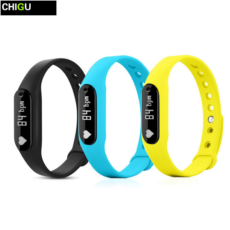 CHIGU Smart Wristband C6 Heart Rate Monitor Bracelet Passometer For Bluetooth 4.0
