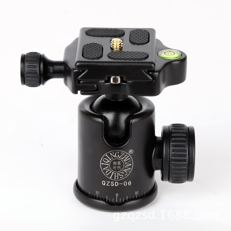 New Aluminum Tripod Ball Head With Quick Release Plate Tripod Head Q06