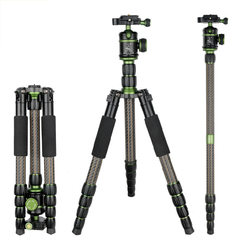 Professional Carbon Fiber Tripod For Digital Camera Tripod Monopod SYS800C