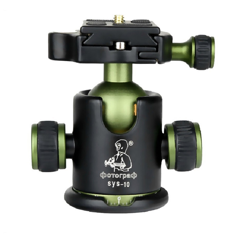 Professional Aluminum Camera Tripod Ball Head with Quick Release Plate SYS10