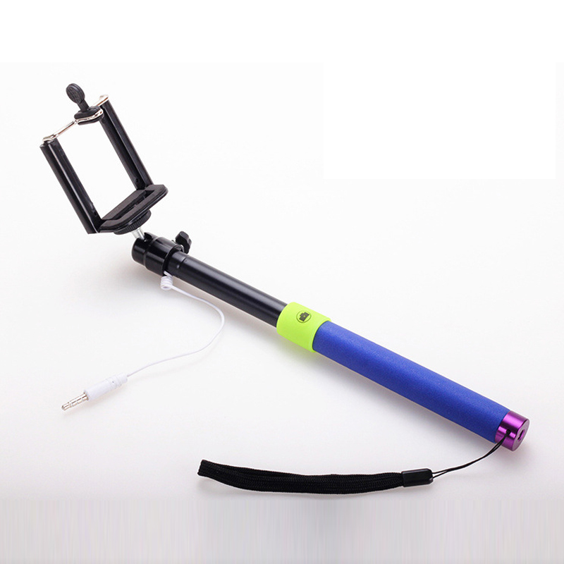 Three Colors Self-control Rod Line Telescopic Self-timer