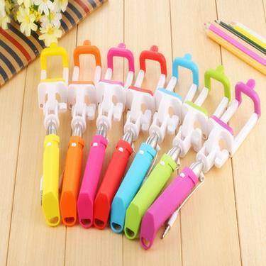 Foldable Mini Rainbow Colorful Selfie Stick For IPhone Samsung etc