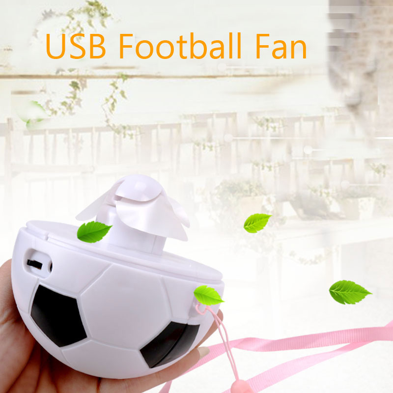 Portable Flexible USB Mini Cooling Rechargeable Football Fan