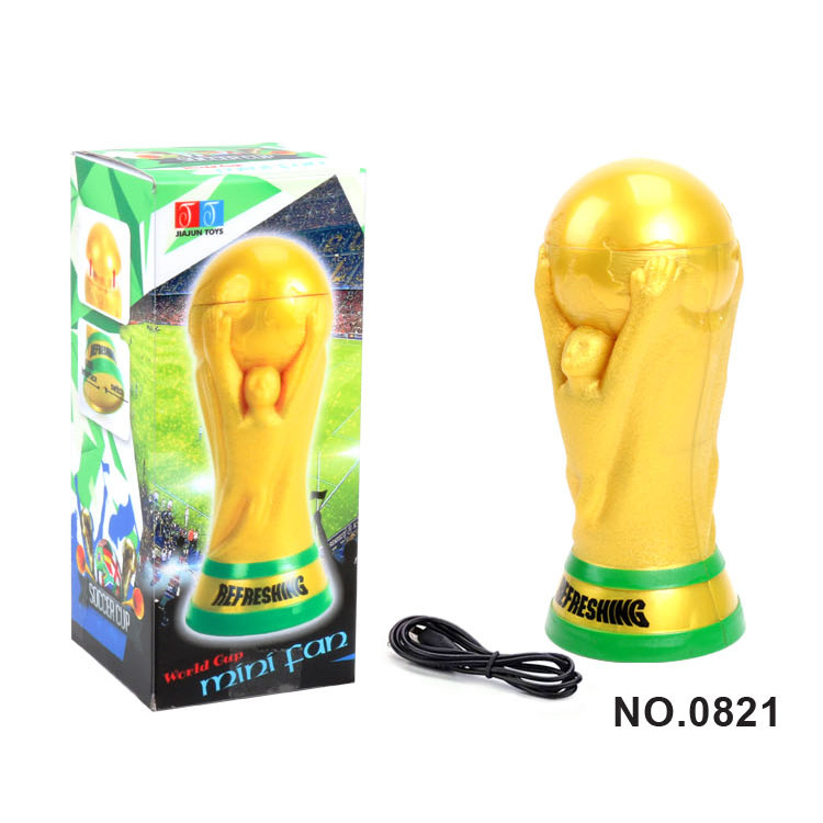 New Portable World Cup Football USB Fan Rechargable Handheld