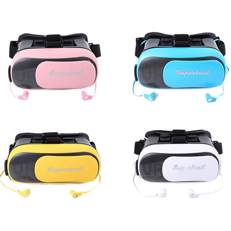 VR BOX TS-3D02 Mobile 3D Glasses Virtual Reality Helmet Kotaku Storm Mirror with Bluetooth Earphone ESU-005